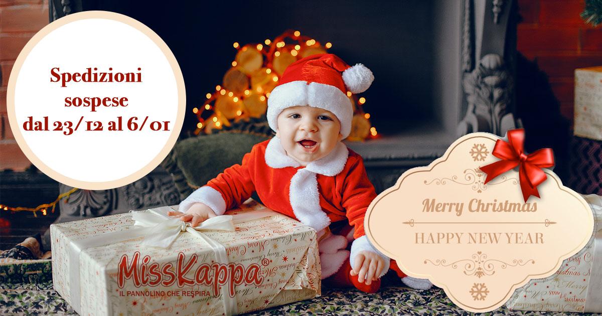 Natale 2019: i pannolini di MissKappa vanno in vacanza!